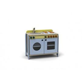 I giochi di ruolo Modulo Simply per gioco cucina forno piano cottura lavandino by TANGRAM di 2H arredi per asilo