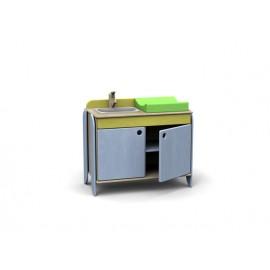 Gioco Modulo Simply con fasciatoio e lavandino con miscelatore per gioco bambole by TANGRAM di 2H arredi per asilo