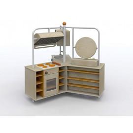 I giochi di ruolo Totus Isola struttura tre vie con cucina trucchi e lavanderia by TANGRAM di 2H arredi per asilo