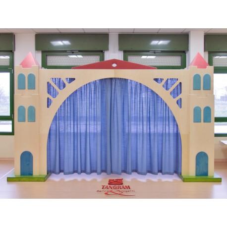 I giochi di ruolo La scala Teatro con 2 colonne vani giorno e ponte con sipario by TANGRAM di 2H arredi per asilo