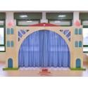 I giochi di ruolo La scala Teatro con 2 colonne vani giorno e ponte con sipario