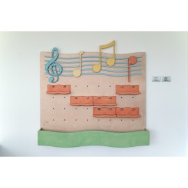 Mobile contenitore Doremì espositore strumenti musicali mensoline contenitore by TANGRAM di 2H arredi per asilo