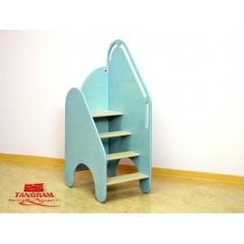 Scaletta Oplà indipendente per fasciatoio in legno multistrato 40 x 58 x 118 cm