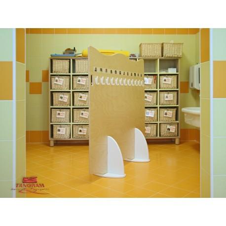 Pannello Olmo divisorio bifrontale 24 posti con piedistalli in polietilene by TANGRAM di 2H arredi per asilo
