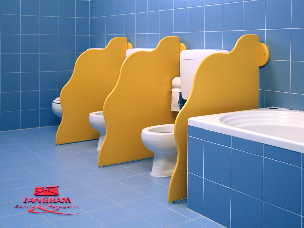 Divisori bagni per WC pareti personalizzabili su misura - Tangram di 2H