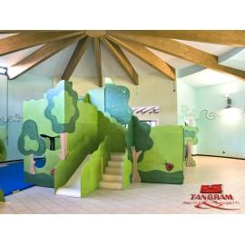 La Foresta magica Struttura gioco polifunzionale in legno 600 x 450 x 330 cm
