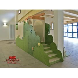 La Casa di Giulietta Struttura gioco polifunzionale in legno multistrato by TANGRAM di 2H arredi per asilo