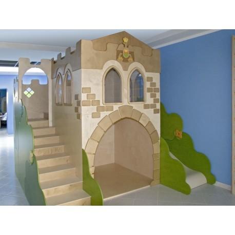 Struttura gioco polifunzionale Il Castello medievale in legno multistrato by TANGRAM di 2H arredi per asilo