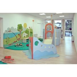 Struttura gioco polifunzionale La Nave in legno multistrato per bambini by TANGRAM di 2H arredi per asilo