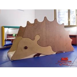 Struttura gioco polifunzionale Il riccio in legno multistrato per bambini by TANGRAM di 2H arredi per asilo