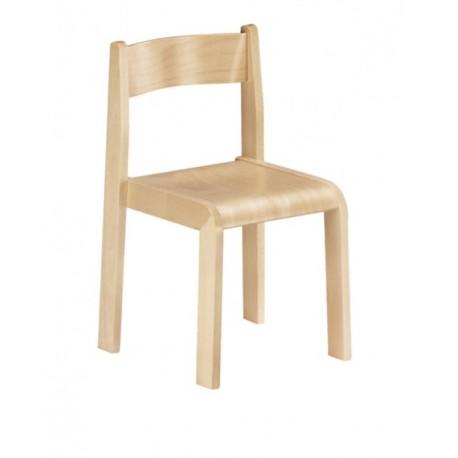 Sedia Minnie impilabile per bambini in legno senza braccioli varie dimensioni by TANGRAM di 2H arredi per asilo
