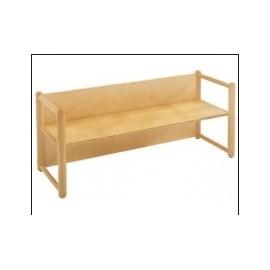Panca multiuso modello Pongo con braccioli in legno di faggio 90 x 41 x 54 cm