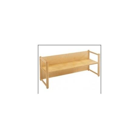 Panca multiuso modello Pongo con braccioli in legno di faggio 90 x 41 x 54 cm by TANGRAM di 2H arredi per asilo
