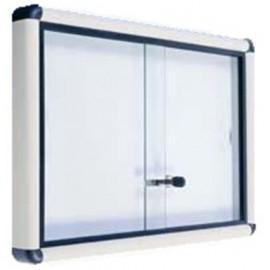 Bacheca con ante scorrevoli in vetro con serratura 150 x 7 x 100 cm