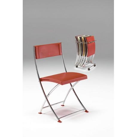 Carrello Lem per sedia pieghevole capacità n 6 sedie 40 x 56 x 97 cm by TANGRAM di 2H arredi per asilo