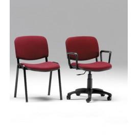 Sedia Auditorium in metallo con seduta e schienale imbottiti 53 x 53 x 84 cm