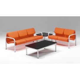 Divano a 3 posti linea 440 struttura metallica e sedile e schienale imbottiti