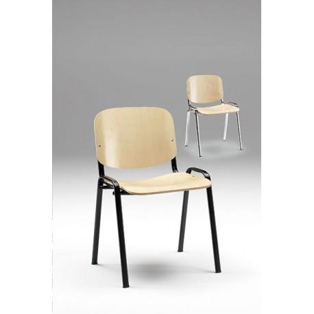 Sedia Auditorium con seduta e schienale in legno 53 x 53 x 84 cm by TANGRAM di 2H arredi per asilo
